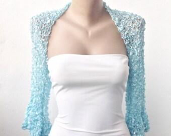 Bridal Bolero Shrug, Blue Bridal Shrug, Blue Bridal Bolero, Wedding Bolero, Wedding Shrug, Blue Bolero, Blue Shrug, Blue Jacket