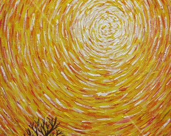 The Universal Spiral. Energy painting. Acrylic painting 40 * 50 cm. Painting for home