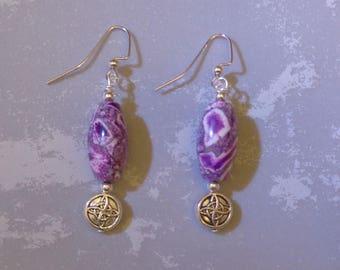 Lovely Purple and Silver Earrings