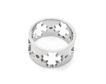 Lucky Clover Ring / Platinum