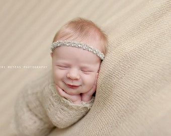 Chatoyer - Halo Headband Crown - Beads Sequins Lace - 9 COLOR CHOICES - Girls Newborns Baby Infant Adults - Photo Prop