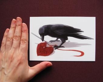 Postcard Print - Crowchet
