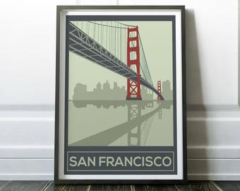 San Francisco Poster, San Francisco Wall Art, San Francisco Print, Wall Art,
