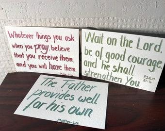 3 scripture card encouragement