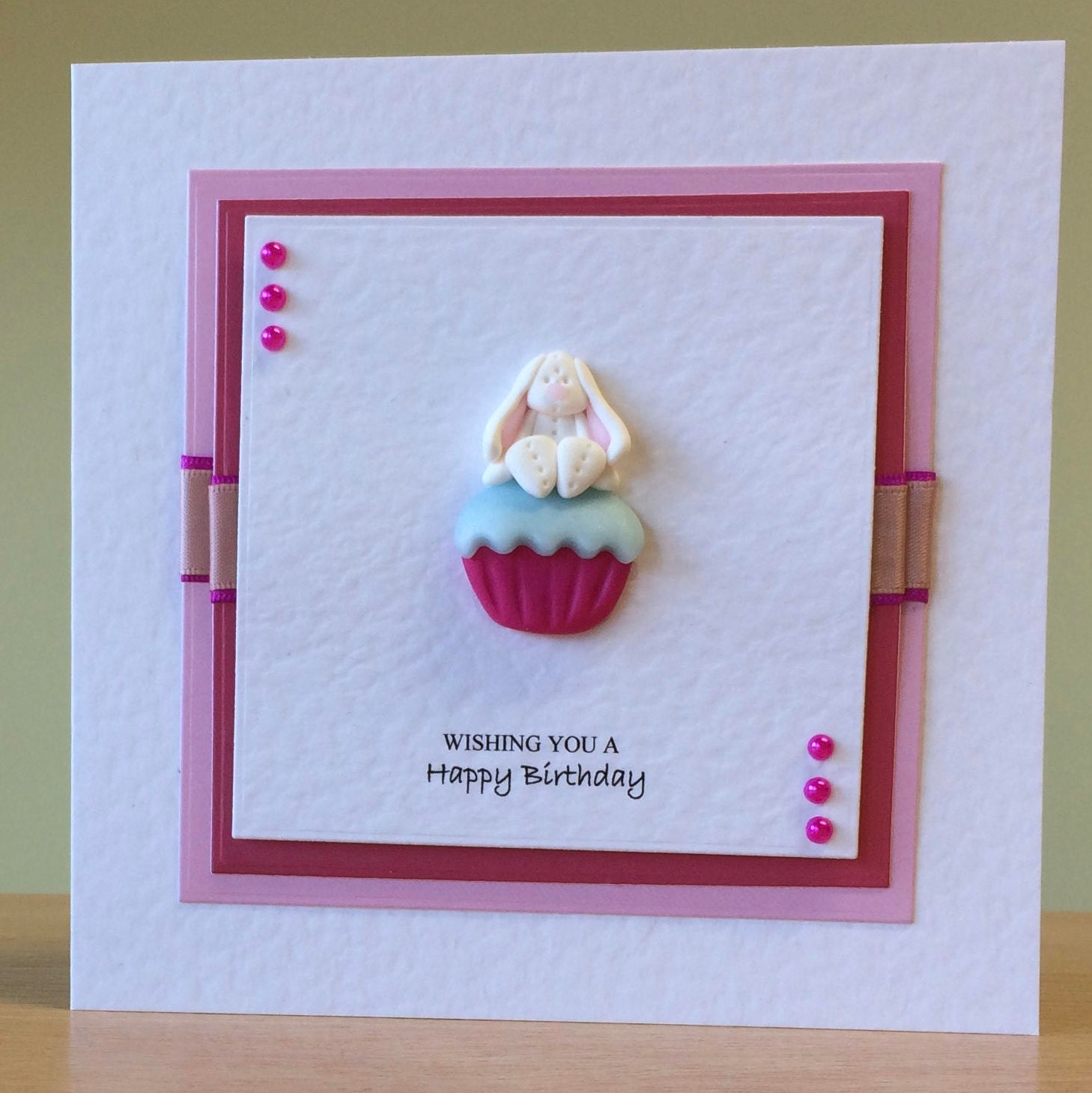 Birthday Card Cute Rabbit Bunny Birthday Card For