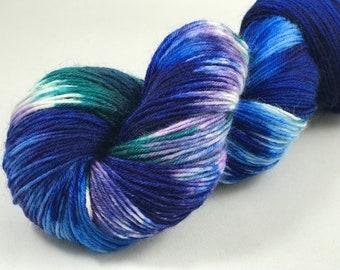 "Hand Dyed Sock Yarn, Superwash Wool & Nylon, 437 Yards, 100g ""Bora Bora"""