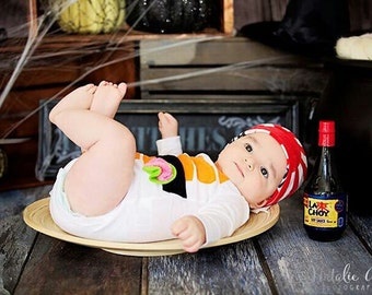 Sushi Baby Costume, Baby Halloween Costume, Sushi Costume, Funny Baby Costume, Baby Geekery