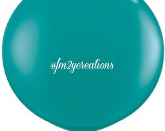 """36"""" Round Balloon Teal   3 Foot Round Balloons   3' Round Latex Balloons   Teal Baby Wedding Bridal Shower   Large Solid Color Latex Balloon"""