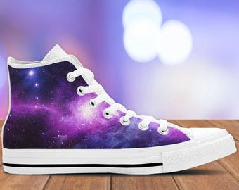 Galaxy Shoes - Space Sneakers -White- Connect to the universe in these Kiks