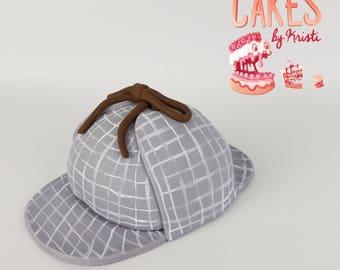 Sherlock Inspired Fondant Hat Cake Topper (MADE TO ORDER)