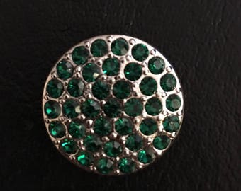 Ritzy Emerald GingerSnap Charm