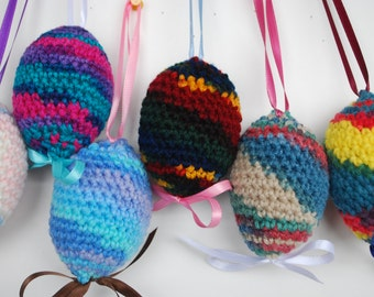 Crochet Easter Eggs, Easter eggs, Crochet eggs, Easter decor, Home decor, Easter egg, Easter decorations, Handmade, Spring, Easter, set of 6