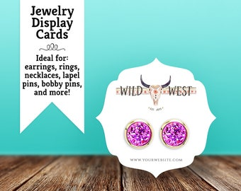 """Earring Cards   Necklace Cards   Keychain Cards   Hair Bow Cards   Ring Cards   Brooch Cards   Jewelry Display Cards   2.5"""" 72 Cards"""