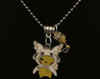 Handmade Winking Pika Pendant Necklace with Charm