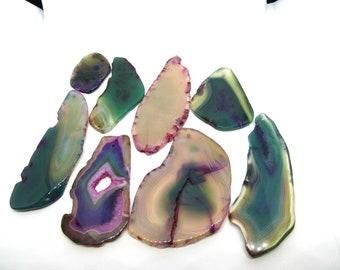 1 Natural Agate Slice Pendant (B503fa-h)