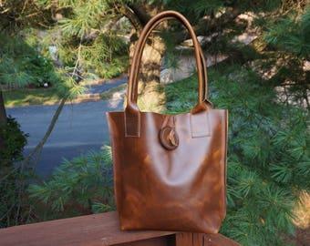 leather tote .leather tote bag. leather bag . brown tote bag .  custom leather bag . tote bags for sale.tote bag sale.camel leather tote