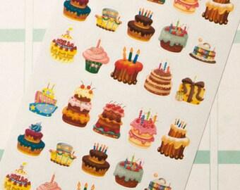 Cake & Present Planner Stickers