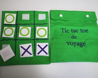 play tic tac toe travel game