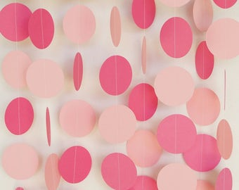 Pink Baby Girl Garland, Pink Baby Shower Decor, Girl's Birthday Decoration, 1st Birthday Party, 10 ft. long