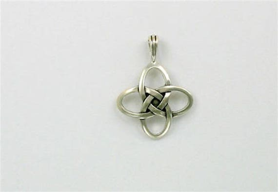 Sterling silver celtic love knot pendant aloadofball Image collections