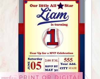 All Star Sports Birthday Invitation