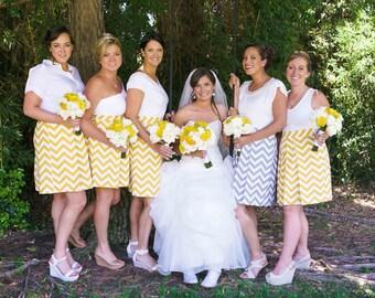 Yellow Chevron Bridesmaid Skirt