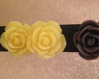 Handmade Vintage Inspired Pastel Large Flower Cabochon Earrings