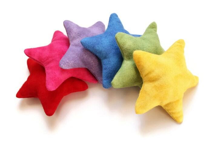 Star Shaped Rainbow Bean Bags Flannel Brights Children S