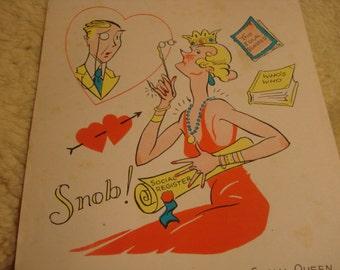 Vintage Fifties Paper Valentine SNOB