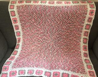Handmade 'Spring Blossom' crochet blanket