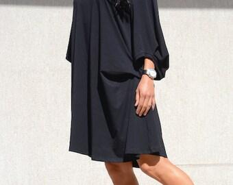Little black dress, plus size tunic, black dress, plus size dress, oversize tunic, black tunic dress, oversize tunic, oversize black dress