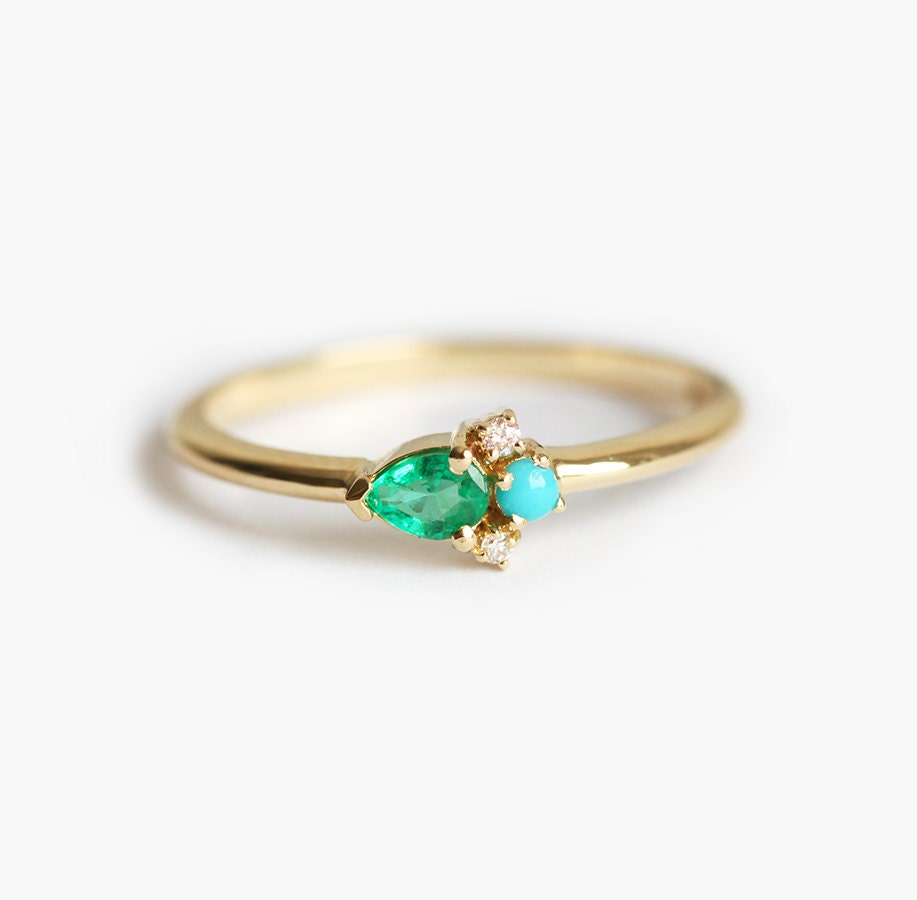 gold designer carat set solitaire ring bezel engagement rings yellow gemstone in emerald