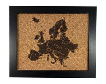 Cork Map | Europe (Multiple Options)