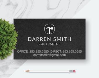 Handyman Custom Business Card, Interior Designer, Builder, Stylist, Carpentry, Printable Custom Personalized Business Card,  Digital File