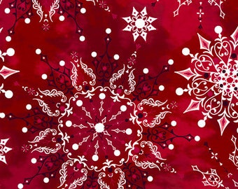 Christmas Dreams , 1/4 Yd Bundle, 7 Pieces,  Quilting Treasures, Quilt Fabric, Cotton Fabric, Christmas Fabric, Holiday Fabric, Snowflake