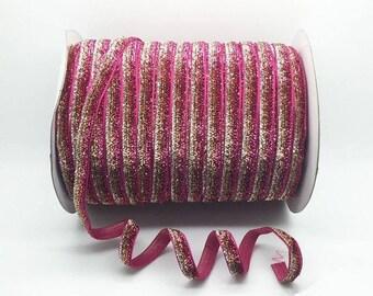4 meter nine sparkly glittery Ribbon