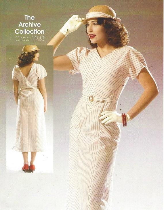Frauen der 1930er Jahre Kleid Sommerkleid McCalls Nähen Muster