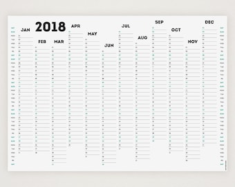 WHITE OUT 2018 Wall Planner