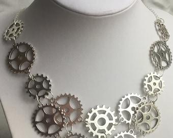 Steampunk Gear Necklace, Steampunk Jewelry, Gear Jewelry