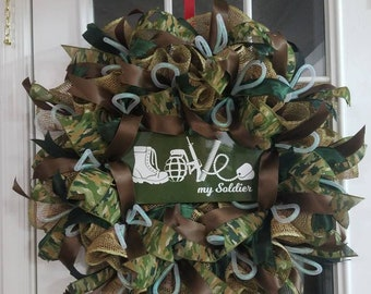 Love my soldier wreath. 28x28