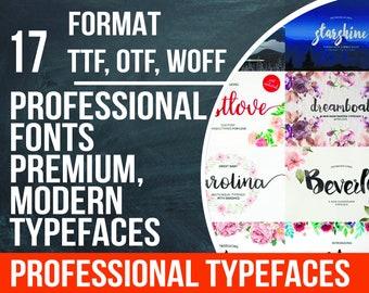 17 font bundle, brush font, font download, ttf font, otf font, otf, ttf, swirly font, font pack, swash font, downloadable font, free fonts