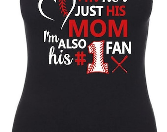 Baseball Mom Tank Top, Baseball Tank, Baseball Mom Tank, Baseball Mom T-shirt, Baseball Mom, Tank Top, Tops and Tees, Mom