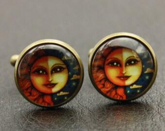 Cufflinks le soleil et la lune (1616)
