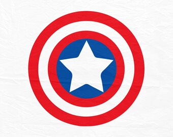 Captain America SVG, superhero svg, cartoon sign, cricut silhouette cutting file, dxf, eps, png, download