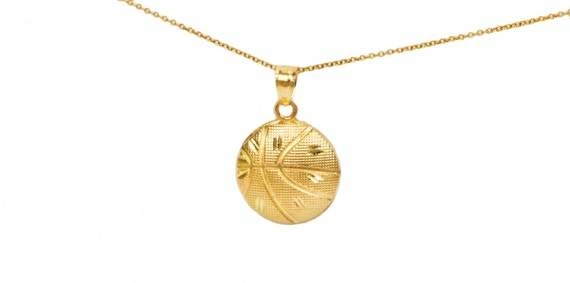 10k yellow gold basketball pendant yellow gold basketball like this item mozeypictures Gallery