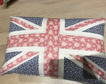 Union Jack Quilted cushion in Tilda fabrics