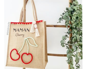 Tote Bag personalized Cherry MOM