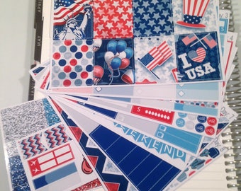 Memorial Day **Complete Weekly Planner Sticker Kit** (295 Stickers)