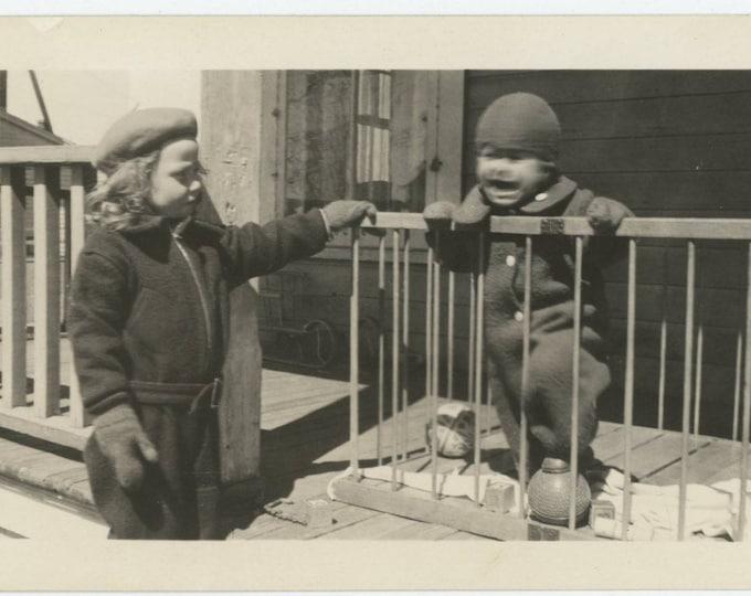 Vintage Snapshot Photo: Tantrum, 1939 (127624)
