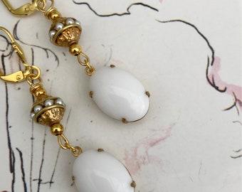 Art Nouveau  Earrings Edwardian Earrings Art Deco Earrings Bridal  Earrings